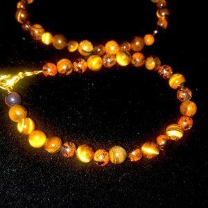 2 Tigereye gemstone Bracelets